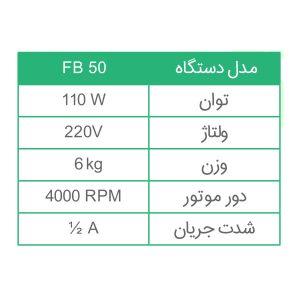 مشخصات فنی HB170